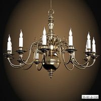 Martinez Y Orts 4772  classic bronze traditional candLE light big chandelier suspension pendant